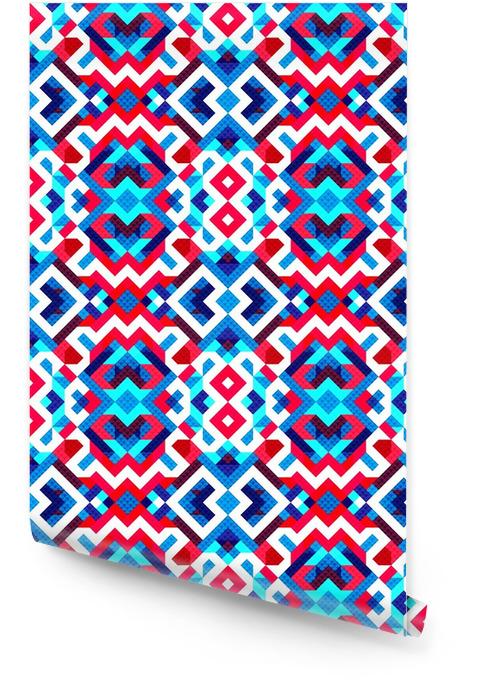 Pixels mooi abstract geometrische naadloze patroon vector illustratie Behangrol - Grafische Bronnen