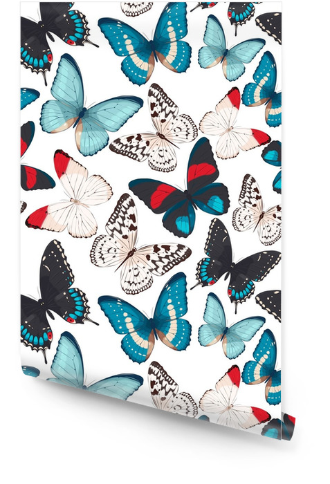Colorful butterflies seamless Wallpaper roll - Animals