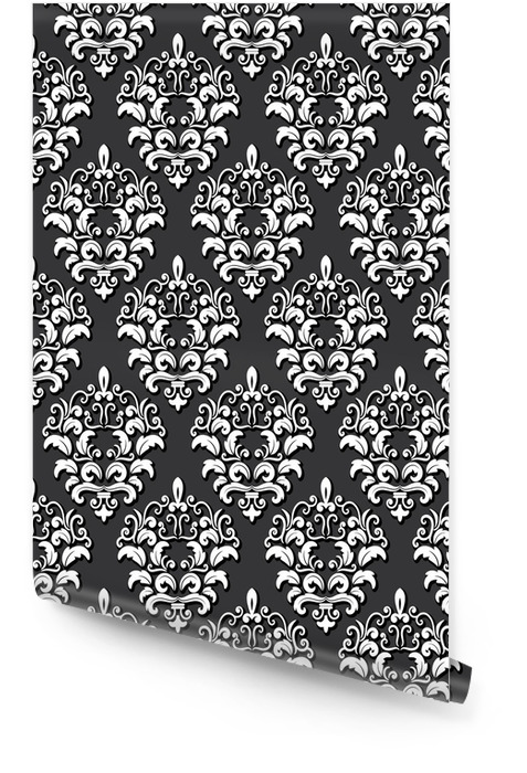 Damask seamless pattern background. Wallpaper Roll - Graphic Resources