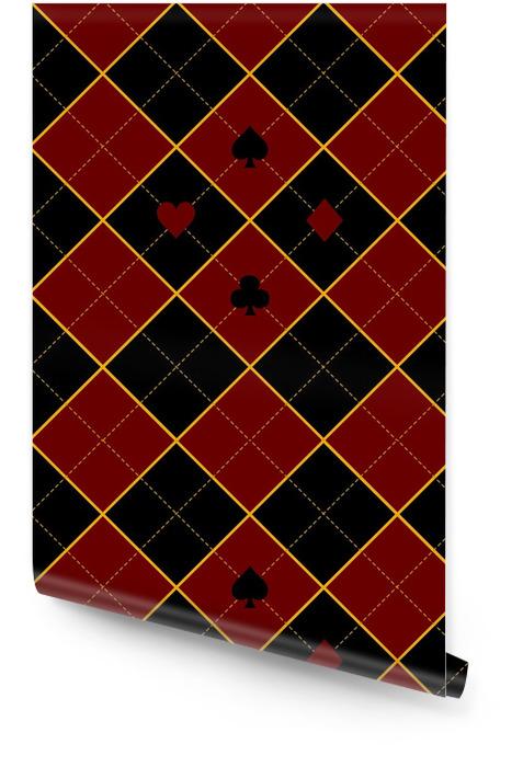 Carte costumes royal rouge diamant noir fond illustration vectorielle Rouleau de papier peint - Ressources graphiques