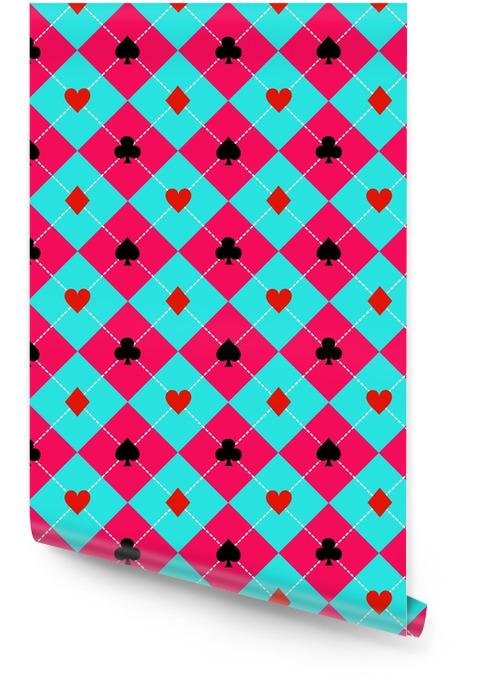Carte costumes bleu ciel rose diamant fond illustration vectorielle Rouleau de papier peint - Ressources graphiques