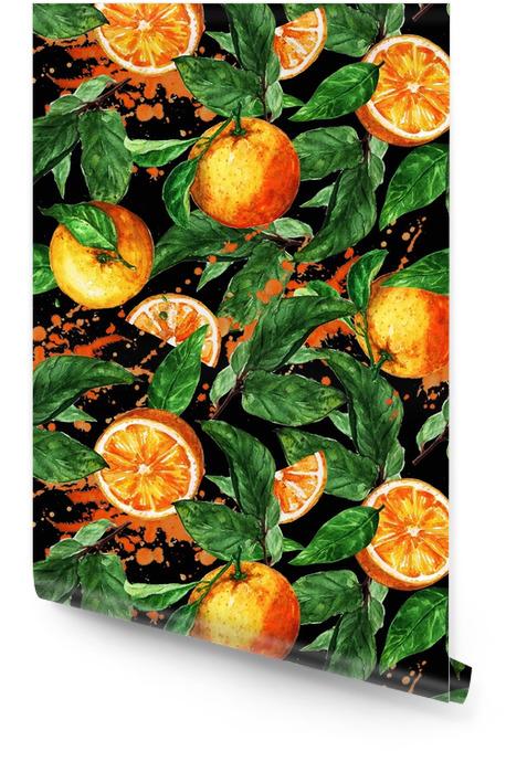 Akwarela bezszwowe wzór - pomarańczowy Tapeta w rolce - Zasoby graficzne