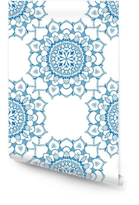 Powtarzalne kwiatowy wzór Tapeta w rolce - Zasoby graficzne