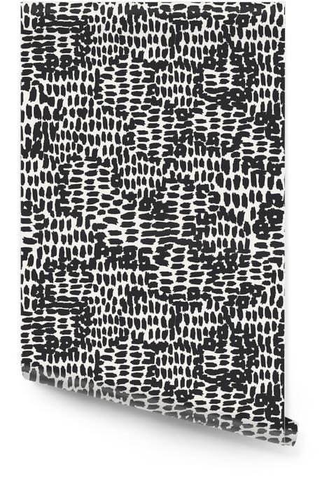 Naadloze hand getekende patroon Behangrol - Grafische Bronnen