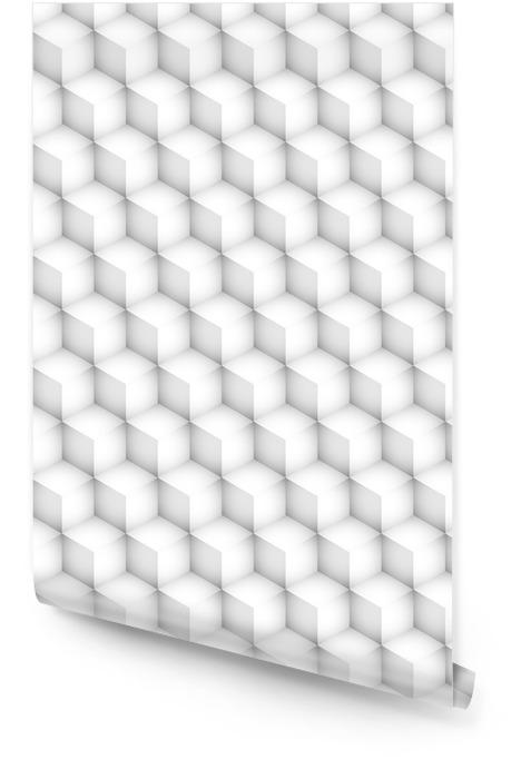 sześciany 3d bezszwowe tło wektor Wallpaper roll - Graphic Resources