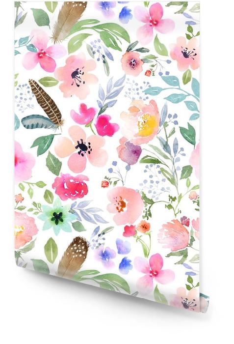 Botaniczny wzór Tapeta w rolce - Rośliny i kwiaty