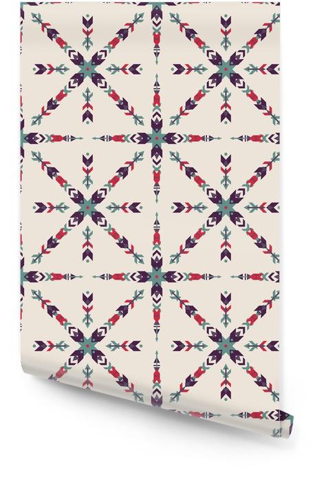 Vector bunte nahtlose dekorativen ethnischen Muster. American Indian Motive. Hintergrund mit aztekischen Stammes-Ornament. Boho-Stil. Tapetenrolle - Grafische Elemente