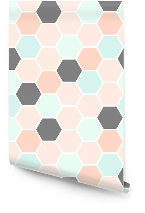 Hexagon Seamless Pattern Wallpaper roll - Graphic Resources
