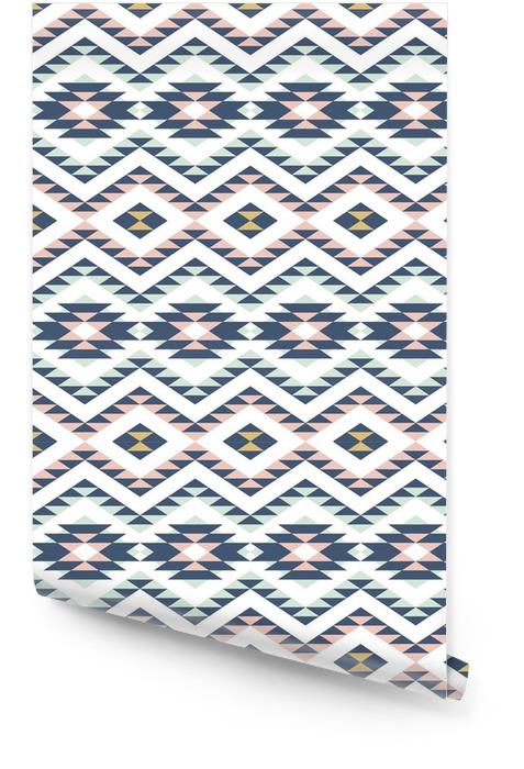 Naadloos patroon met etnische ornament Behangrol - Grafische Bronnen