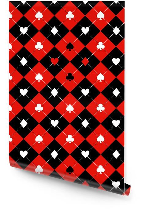 Carte costumes rouge noir blanc échiquier diamant fond vector illustration Rouleau de papier peint - Ressources graphiques