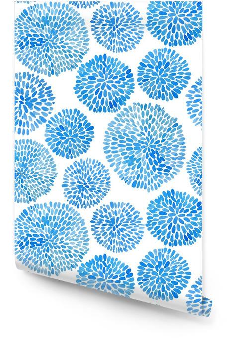 Japanse bloem cirkel patroon. Behangrol - Grafische Bronnen