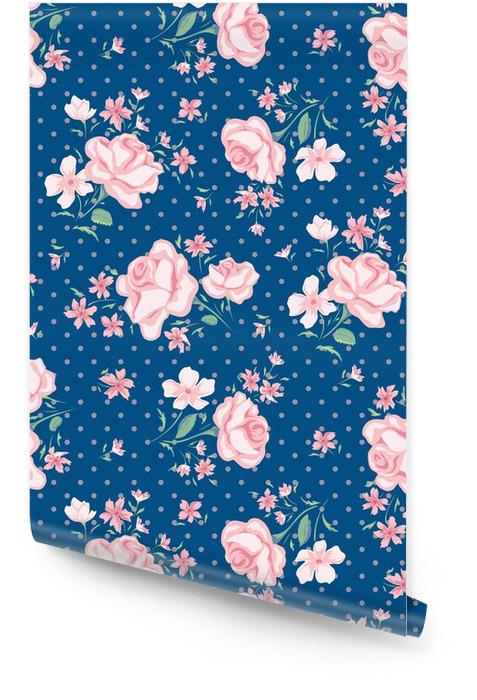 Patrón sin costuras de flor Rollo de papel pintado - Plantas y flores