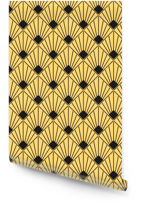 Art deco bez szwu vintage wzór tapety Tapeta w rolce - Zasoby graficzne