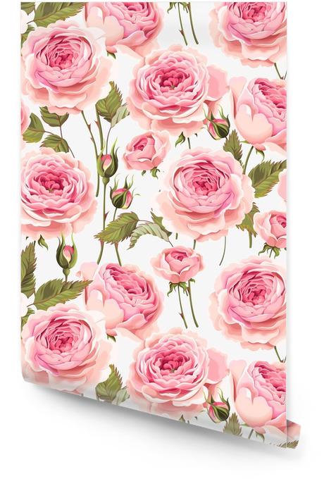 Róże angielskie bez szwu Tapeta w rolce - Rośliny i kwiaty