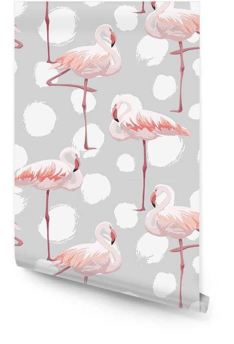 Różowy wzór flamingo Tapeta w rolce - Zwierzęta
