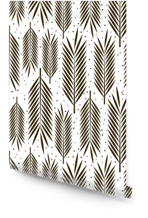 Naadloos patroon met palmbladeren ornament Behangrol - Bloemen en Planten