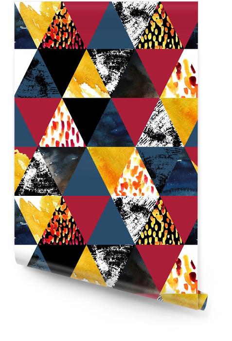 Jesień bez szwu wzór inspirowany akwarela Tapeta w rolce - Zasoby graficzne