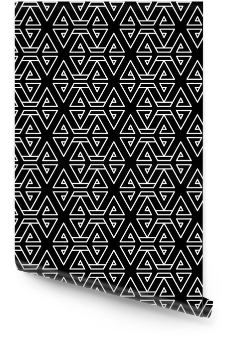 Abstract geometric black and white hipster fashion pillow pattern Wallpaper roll - Graphic Resources