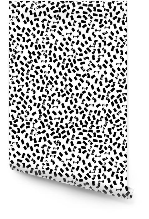 Wektor wzór nowoczesny punkt pędzla. ręcznie rysowane wygrawerowanym rocznika ilustracji. Tapeta w rolce - Zasoby graficzne
