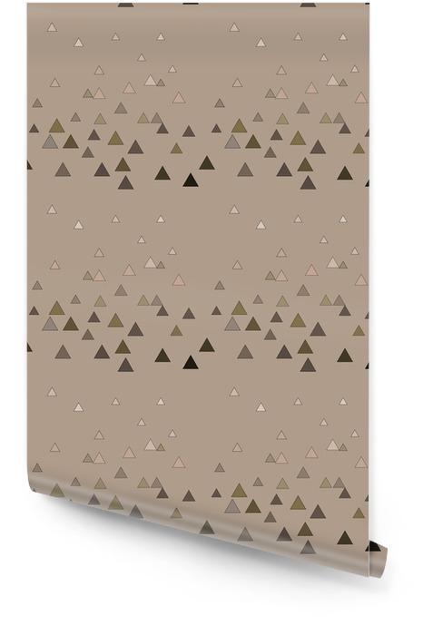 Driehoek bruin naadloos patroon Behangrol - Grafische Bronnen