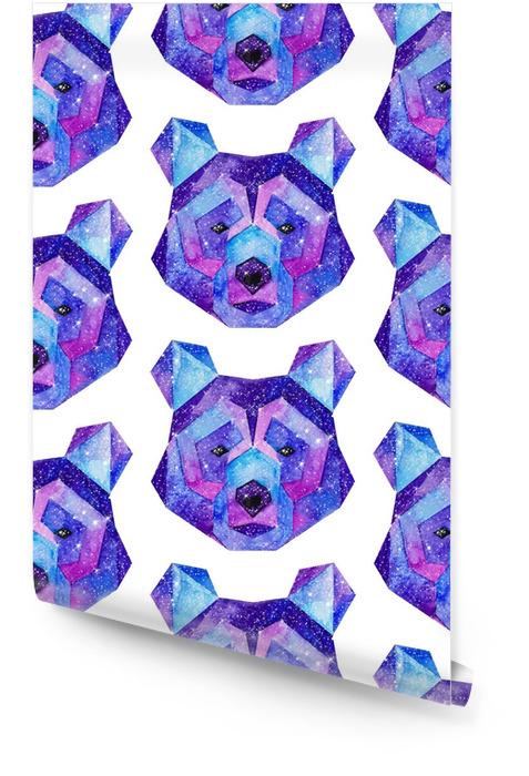 Acuarela animales cósmicos. dibujado a mano ilustración Rollo de papel pintado - Animales