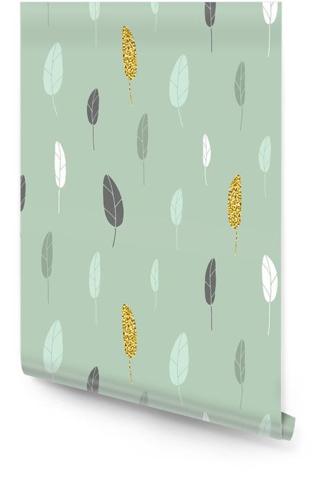 Wzór liścia Tapeta w rolce - Zasoby graficzne