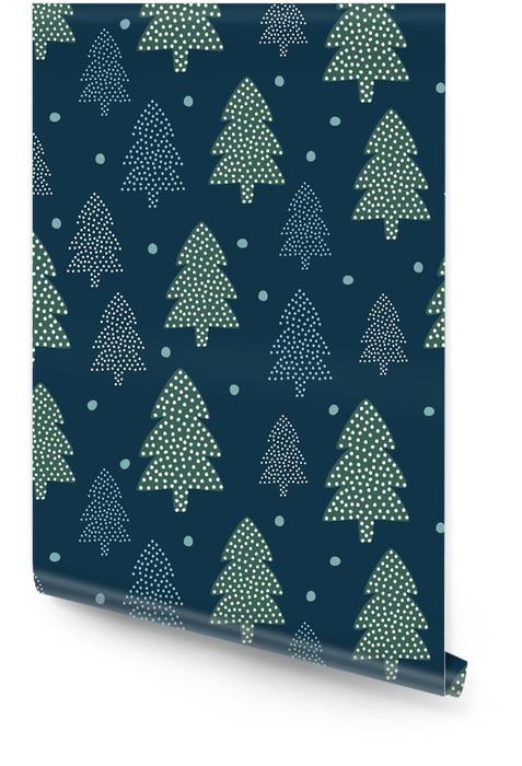 Rouleau De Papier Peint Motif De Noël Arbres De Noël Et La Neige Happy New Year Nature Seamless Background Conception De La Forêt Pour Les
