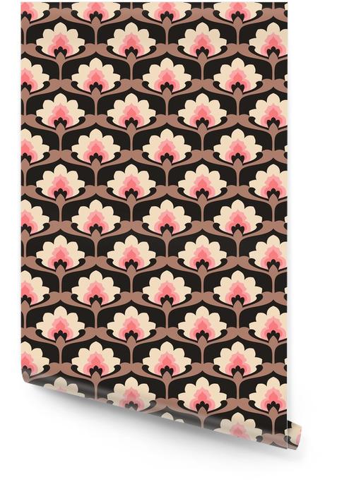 Jednolite rocznika wzór kwiatów Tapeta w rolce - Zasoby graficzne