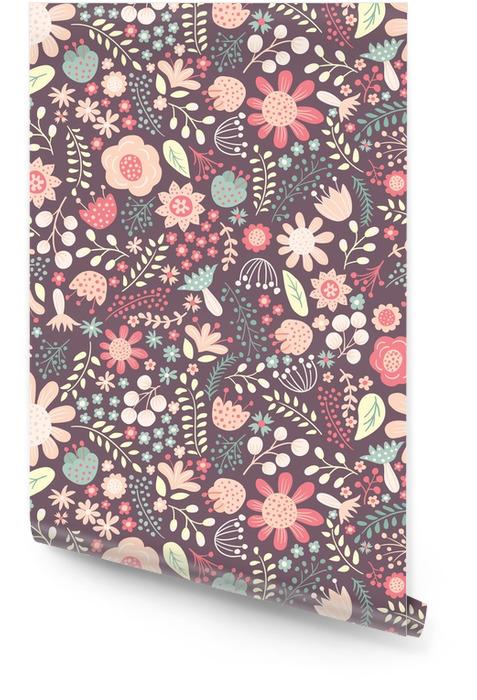 Kwiecisty wzór Tapeta w rolce - Rośliny i kwiaty