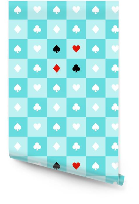 Carte costumes bleu aqua vert menthe blanc échiquier fond vector illustration Rouleau de papier peint - Ressources graphiques