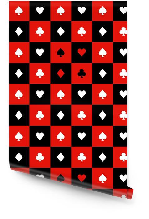 Carte costumes rouge noir blanc échiquier fond illustration vectorielle Rouleau de papier peint - Ressources graphiques