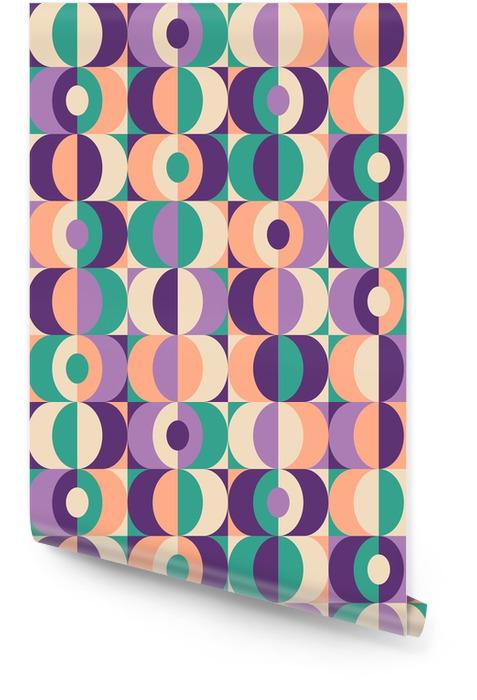 Patrón geométrico de la vendimia inconsútil Rollo de papel pintado - Recursos gráficos