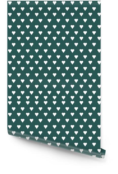 Wektor bez szwu deseń z białego serca na tle pastelowych Tapeta w rolce - Zasoby graficzne