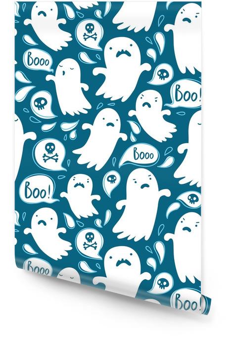 Modèle de Halloween sans couture avec divers fantômes effrayants Rouleau de papier peint - Ressources graphiques
