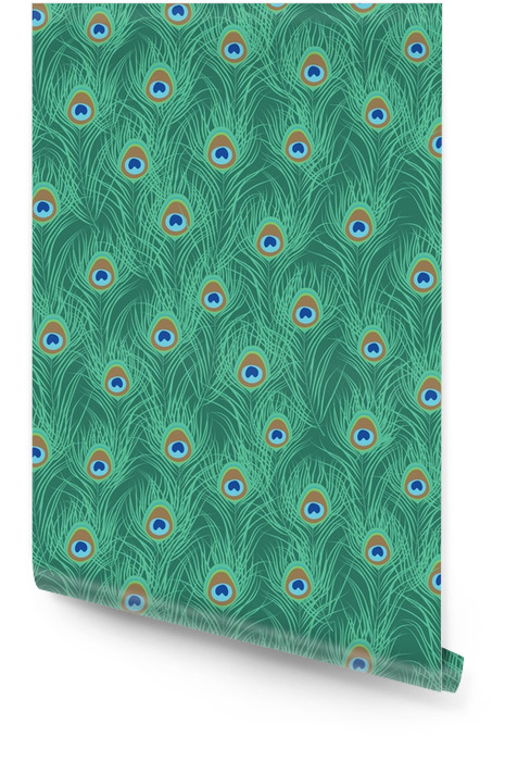 Pauwenveer naadloos patroon. vector illustratie Behangrol - Dieren