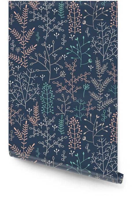 Seamless ornement floral minimaliste Rouleau de papier peint - Ressources graphiques