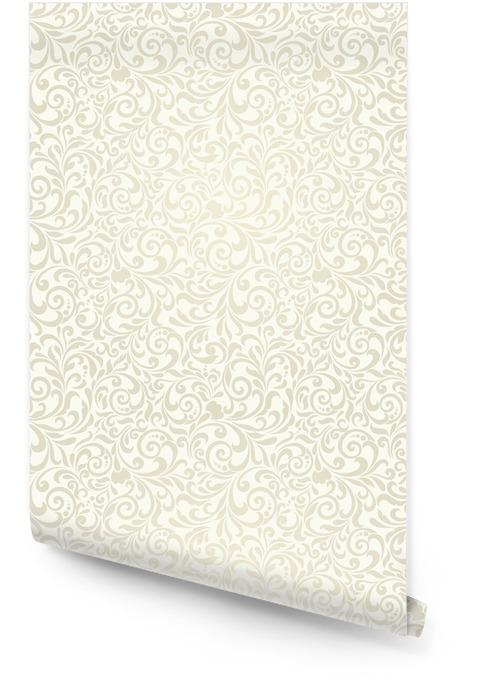 Fondo transparente de color beige claro en el estilo de Damasco Rollo de papel pintado - Recursos gráficos