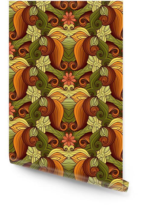 Wektor bez szwu kolorowy ozdobny Tapeta w rolce - Zasoby graficzne