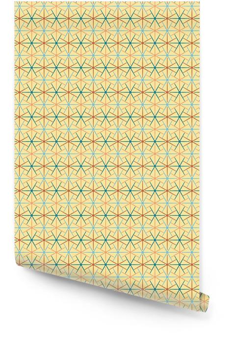 Jednolite tło abstrakcyjny wzór z powtarzających gwiazda graficzny ornament na jasnym tle. EPS ilustracji wektorowych Tapeta w rolce - Zasoby graficzne