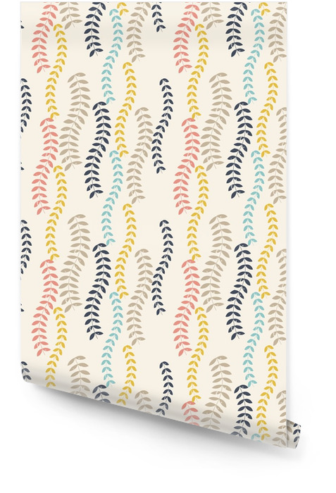 Retro leaves pattern. Wallpaper roll - Plants and Flowers