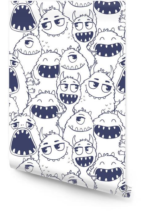 Naadloos patroon met monsters. Behangrol - Dieren