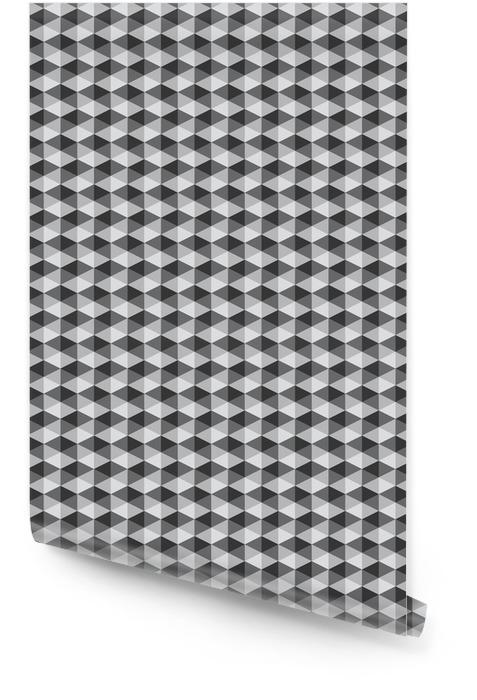 Rétro motif géométrique abstrait couleur noir et blanc ton vect Rouleau de papier peint - Ressources graphiques