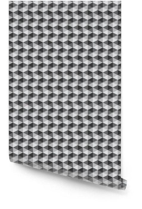 abstract retro geometric pattern black and white color tone vect Wallpaper roll - Graphic Resources