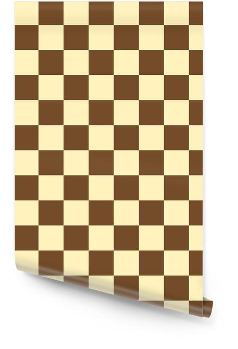 Damier brun échiquier vecteur transparente Rouleau de papier peint - Ressources graphiques