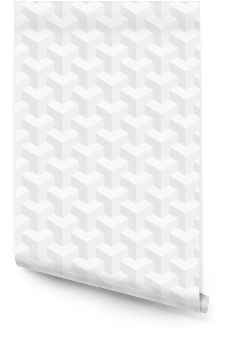 Isometrische nahtlose Muster. 3D Täuschungshintergrund. Tapetenrolle - Grafische Elemente