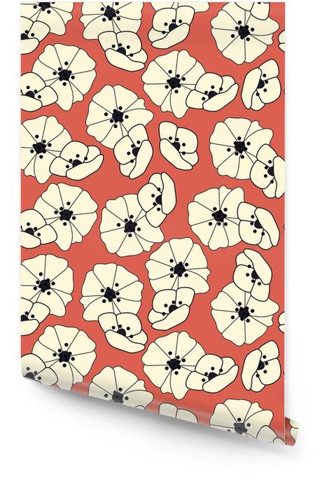 Nahtlose Muster mit Blumen und floralen Elementen, Natur, Vektor-Illustration Tapetenrolle - Pflanzen und Blumen