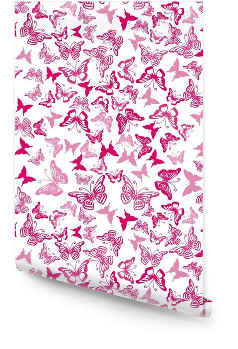Modèle sans couture avec des silhouettes de papillons Rouleau de papier peint - Ressources graphiques