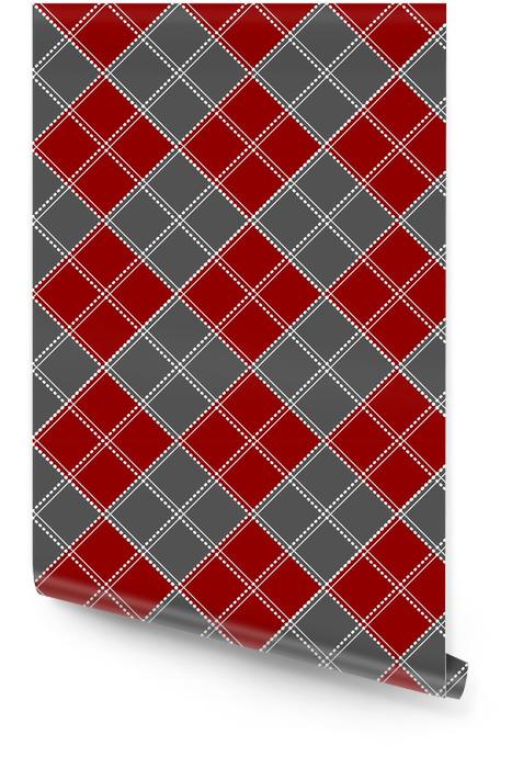 Fond de Noël rouge blanc échiquier de Noël. illustration vectorielle Rouleau de papier peint - Ressources graphiques