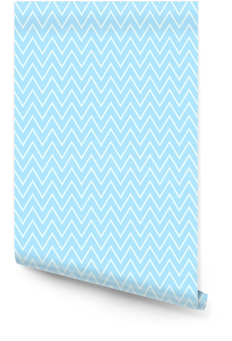 Wave pattern stripe seamless sweet blue two tone colors. Pattern stripe chevron abstract background vector. Wallpaper roll - Graphic Resources
