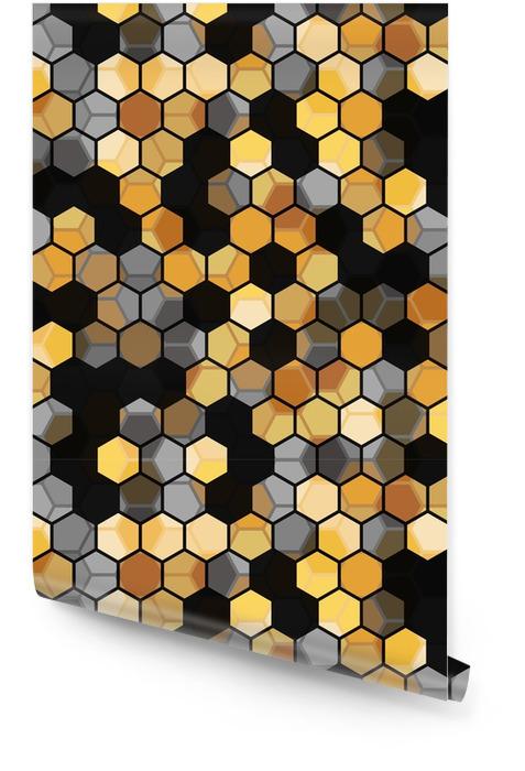 Moderne sømløs mønster av heksagoner flerfarget abstrakt geometrisk bakgrunn. vektor illustrasjon. Rulletapet - Grafiske Ressurser